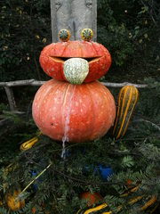 Kürbisdekoration #4 - Kürbis, Herbst, Dekoration, bunt