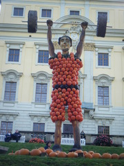 Kürbisdekoration #2 - Kürbis, Herbst, Kürbisdekoration, Gewichtheber