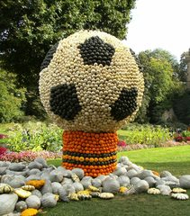 Kürbisidekoration #8 - Kürbis, Kürbisdekoration, Herbst, Fußball