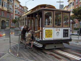 Cable Car - Cable Car, Fahrzeug, Schienen, San Francisco, USA, englisch, Kalifornien