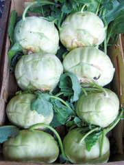 Kohlrabi grün - Kohlrabi, Gemüse, Knolle, Rübkohl, acht