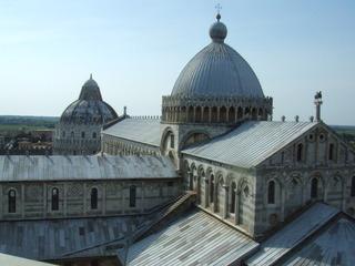Dom und Baptisterium in Pisa - Dom, Baptisterium, Pisa, Italien, Toskana, Kuppel, Romanik, Gotik, Marmor