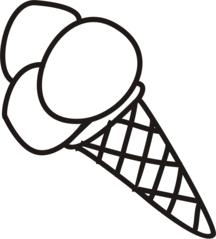 Eis - Eistüte, Kugel, Eiskugel, Bällchen, Waffel, schlecken, Sommer, Anlaut Ei, Waffeleis, kalt, Speiseeis, Anlaut Ei