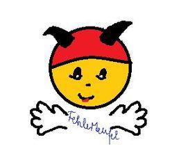 Fehlerteufelchen - Fehlerteufelchen, Fehlerteufel, Fehler, Fehlersuche, Rechtschreibung, Bildkarte, Karte, Piktogramm, Symolkarte