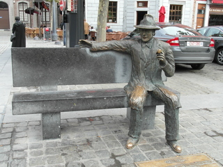 Georges Simenon - Belgien, Lüttich, Liège, Simenon, Denkmal