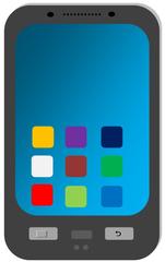 Smartphone  - Smartphone, Telefon, mobile phone, cell phone, Handy, telefonieren, Kommunikation, SMS, MMS, surfen, Internet, Zeichnung