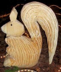 Holzskulptur #2 - Holz, Skulptur, Figur, Bildhauerei, Kunst, Handwerk, Kunsthandwerk, sägen, schnitzen, Eichhörnchen