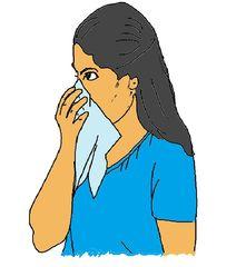 Gesundheit farbig - Nase, putzen, Hygiene, Ansteckung, anstecken, Taschentuch, Erkältung, erkälten, Sicherheit, Schutz, schützen, Infektion, Prophylaxe, Erkältungsprophylaxe, Vorsorge, vorsorgen, vermeiden, Tuch, säubern, schnauben, reinigen, vorbeugen, Vorbeugung, schnäuzen, Schnupfen, Allergie, Heuschnupfen, Pollenallergie