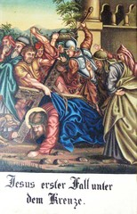 Kreuzweg III - Religion, Kreuzweg, Bilderzyklus, Andacht, Jesus, Kreuz, katholisch, Station, Kreuzwegstation, Leidensweg, Passion