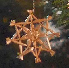 Strohsterne #8 - Strohstern, Stroh, basteln, Weihnachtsbastelei, Dekoration, Weihnachtsdekoration, Weihnachtsschmuck, Weihnachtsbaum, Fensterschmuck, Symmetrie, symmetrisch