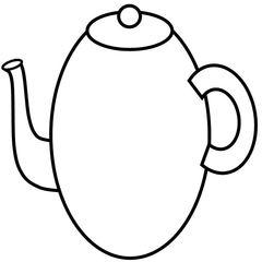 Geschirr: Kaffeekanne - Kaffeekanne, Kanne, Kaffee, Geschirr, gießen, Behälter, coffee pot, lid, Deckel, Griff, handle, drink, trinken, Volumen, Zeichnung, Wörter mit ee, Wörter mit Doppelkonsonanten