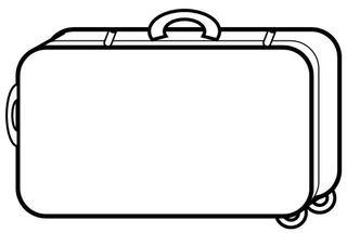 Koffer - Koffer, Rollkoffer, reisen, verreisen, transportieren, Ferien, Urlaub, Behälter, Inhalt, Quader, Volumen, Hohlmaß, Rechteck, Mathematik, Zeichnung, Griff, Rollen, Anlaut K, Wörter mit Doppelkonsonanten