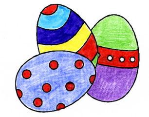 Ostereier - Ei, Eier, Osterei, Streifen, Muster, Ostern, drei, Menge