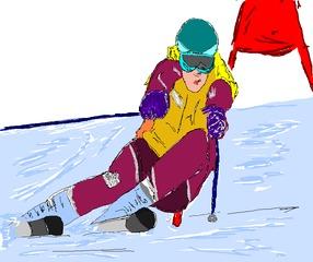 Ski Alpin  - Wintersport, Ski, Abfahrt, alpin, Schnee, Eis, abfahren, Winter, Sportart, olympisch, schnell