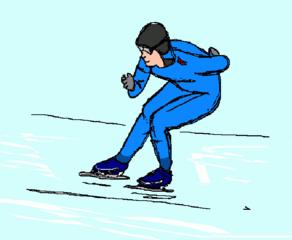 Eisschnellauf - Wintersport, Wintersportart, Winter, Schnee, Eisschnelllauf, schnell, olympisch, Sport, Winter, Eis, kalt, laufen
