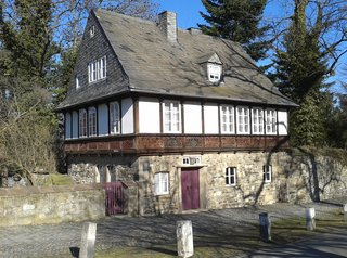 Goslar Bürgerhaus - Bügerhaus, Fachwerk, Verzierungen, Giebel, Stein