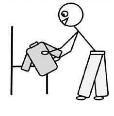 Morgens anziehen - anziehen, Kleidung, Pulli, Hose, Bekleidung, Zeichnung