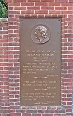 Benjamin Franklin #1 - USA, Philadelphia, Vereinigte Staaten, Drucker, Verleger, Schriftsteller, Naturwissenschaftler, Erfinder, Staatsmann, Amerika, Amerikaner, Ruhestätte, Geschichte, Person, Persönlichkeit, englisch, english