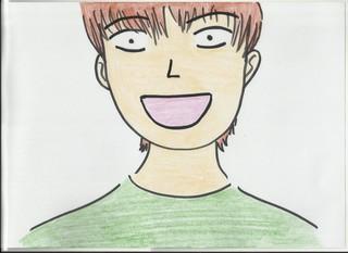 Zeichnung zum Gefühl Fröhlich - Gefühl, Gefühlsausdruck, Gesichtsausdruck, Emotion, Empfindung, Stimmung, Gespür, empfinden, Gemütsbewegung, fröhlich, glücklich, Happy, Bild