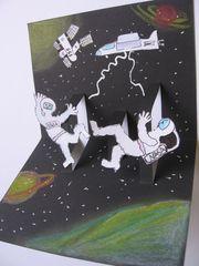 Weltraum Pop-up - Kunst, Weltraum, Pop-up-Karte