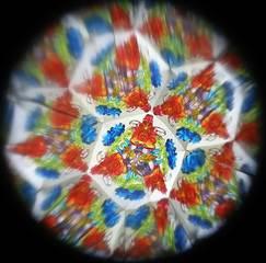 Kaleidoskop #3 - Kaleidoskop, Muster, Formen, Optik, optisch, bunt, Symmetrie, symmetrisch, Glas, Spiegel