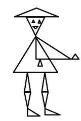 Herr Dreieck sw - Geometrie, Fläche, Flächen, Dreieck, Dreiecke, Form, Formen, Figur, Ebene