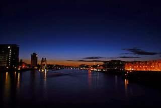 Lichter einer Stadt - Berlin, Hauptstadt, Licht, Kunst, Lichter, Deutschland, Spree, Nacht, nachts, dunkel