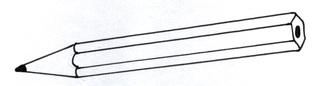 Bleistift - Bleistift, Buntstift, Stift, malen, zeichnen, schreiben, Anlaut B, Anlaut St