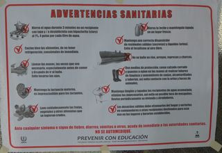 Advertencias sanitarias - advertencia, sanitario, Hinweisschild, Sauberkeit