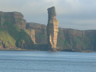 Old man of Hoy - Felsnadel, Steilküste, Wasser, Insel, Orkney-Inseln, Hoy, Schottland, Stein, Felsen, Geographie, Himmel, Natur, Erosion, Kliff
