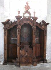 Beichtstuhl - Beichtstuhl, Kirche, Stuhl, katholisch, Religion, Sünde, sühnen, vergeben, beichten