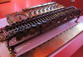 Gottfried Wilhelm Leibniz  #2 Rechenmaschine - Leibniz, Mathematik, Wissenschaft, Rechenmaschine, Staffelwalze, rechnen, Maschine, Addition, Subtraktion, Multiplikation, Division, Erfindung