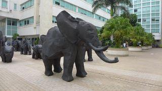 Elefantengruppe - Skulptur, Kunst, Elefant, Kunstform