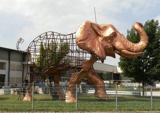 Plastik Elefant #1 - Kunst, Elefant, Kunstform, Plastik, Drahtgestell