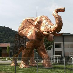 Plastik Elefant #2 - Kunst, Elefant, Kunstform, Plastik, Drahtgestell