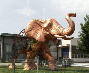 Plastik Elefant #3 - Kunst, Elefant, Kunstform, Plastik, Drahtgestell