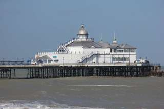 Eastbourne Pier - Gro0britannien, Eastbourne, Südküste England, Pier, morgens
