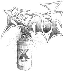 Kunst / Graffiti - Kunst, Graffiti, Spraydose, Sprühdose, Schrift, Schriftgestaltung