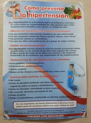 Cómo prevenir hipertensión - cartel, información, hipertensión