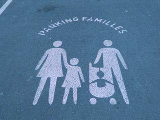 Parking familles - Frankreich, parking, Parkplatz, famille, Familie, Logo