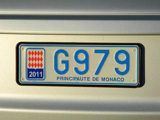 Autokennzeichen Monaco - Monaco, Auto, Kennzeichen, Autokennzeichen, Nummernschild, Wappen