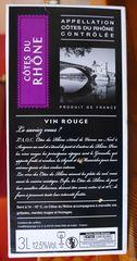 Côtes du Rhône - vin, vin de pays, côtes, côtes du rhône, rouge, boisson, boisson alcoolisée