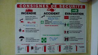 Consignes de sécurité - consignes, sécurité, incendie, évacuation, feu, accident