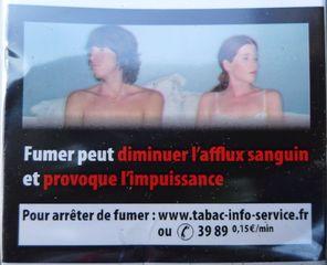 Warnhinweis auf französischer Zigaerettenschachtel #4 - rauchen, Krebs, Lungenkrebs, cancer, mortel, poumon, fumer, Gesundheitsschädigung, Umwelt