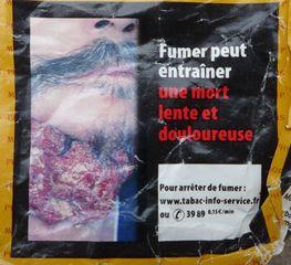 Warnhinweis auf französischer Zigaerettenschachtel #8 - rauchen, Krebs, Lungenkrebs, cancer, mortel, poumon, fumer, Gesundheitsschädigung, Umwelt, arrêter, santé