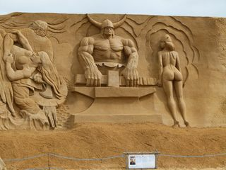 Sandskulptur #3 - Sand, Skulptur, Kunst
