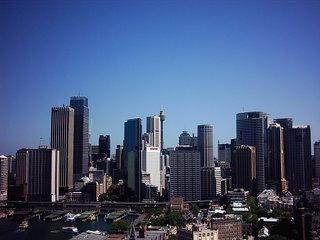 Skyline von Sydney - Australien, Sydney, Stadt, Gebäude, skyline, Häuser, Wolkenkratzer, Großstadt, Hochhaus