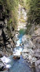 Hinterrhein in der Rofflaschlucht #1 - Hinterrhein, Rhein, Fluss, Schweiz, Graubünden, Rofflaschlucht, Via Mala, Wasser, Quellfluss