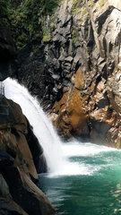 Hinterrhein in der Rofflaschlucht #2 - Hinterrhein, Rhein, Fluss, Schweiz, Graubünden, Rofflaschlucht, Via Mala, Wasser, Quellfluss, Wasserfall