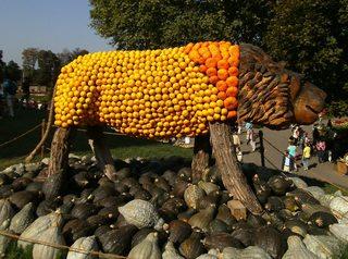 Kürbisdekoration #1 - Kürbis, Kürbisdekoration, Herbst, König der Löwen